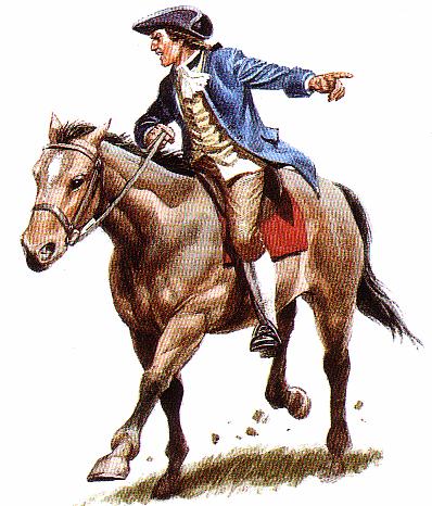 A heróica cavalgada de Paul Revere, para avisar as tropas norte-americanas da chegada dos ingleses, foi inventada em 1861