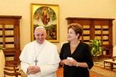 Presidenta Dilma Roussef é recebida pelo Papa Francisco, no Vaticano (Foto: Presidência da Republica/Roberto Stuckert Filho)