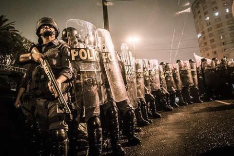 Ação policial nos protestos de junho chamou a atenção da população para o debate sobre a desmilitarização (Foto Mídia Ninja)