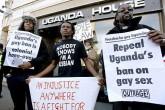 Em outubro, manifestantes fizeram em Londres um protesto contra as leis antigay de Uganda (Reprodução / guinguinbali)