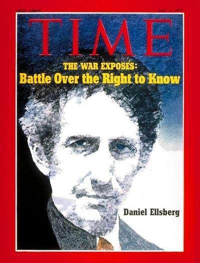 Capa da revista Time, de julho de 1971, com Ellsberg e os Papéis do Pentágono (Reprodução)