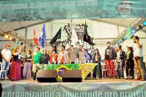 O encontro contou com a participação de representantes da prefeitura de São Paulo e do governo Federal (Foto: Levante Popular da Juventude)