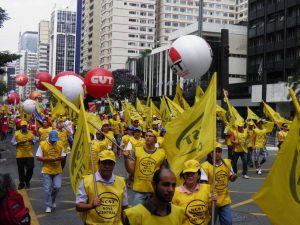 O ato, de acordo com a PM, reuniu cerca de 8 mil trabalhadores. (Foto: Ivan Longo)