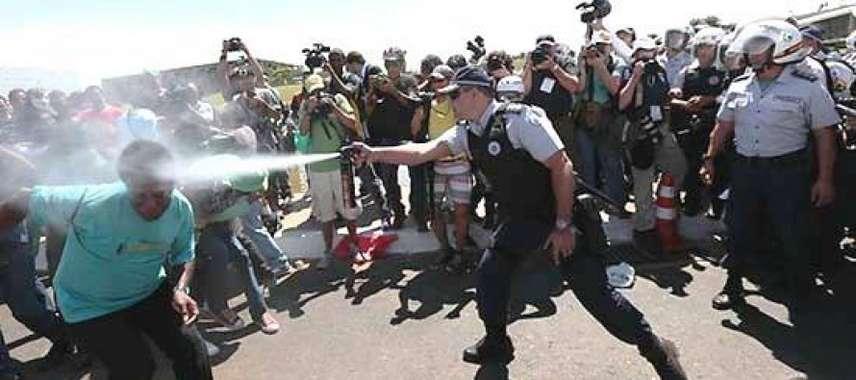 Resultado de imagem para violência policial no df