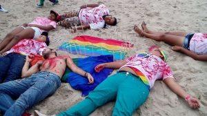 Crimes homofóbicos foram encenados ao término da marcha.