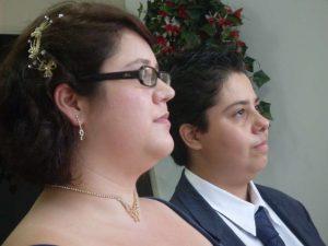 Amanda e Pryscila se casaram no dia 13 de abril de 2013 (Acervo Pessoal)