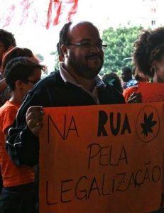Vereador Renato Cinco na Marcha da Maconha em São Paulo.