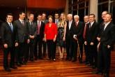 Dilma Rousseff se reúne com jornalistas esportivos no Palácio da Alvorada, em Brasília (Foto: Roberto Stuckert Filho/Divulgação)