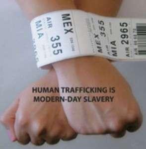 """""""O tráfico humano é uma forma de escravidão moderna"""" (Imagem: Ong A heart for justice)"""