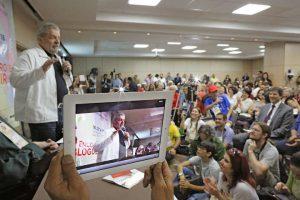 Lula enalteceu a luta dos blogueiros e ativistas pela aprovação do Marco Civil da Internet. (Foto: Instituto Lula / Ricardo Stuckert)
