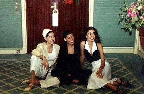 As princesas Sahar, Maha e Hala, durante visita ao rei em uma estância no Marrocos (Foto: Reprodução/Facebook)
