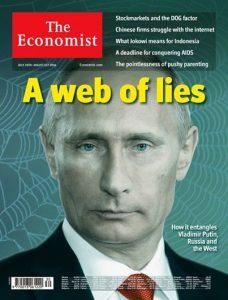 """A britânica The Economist """"denunciava"""" a rede de mentiras de Putin... (Reprodução)"""