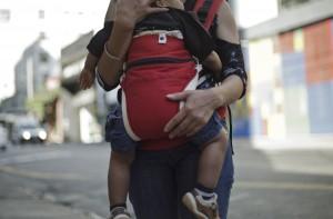 A filipina Muriel conseguiu recuperar o filho que estava abrigado / Foto Ruy Fraga