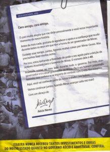Panfleto eleitoral do PSDB-MG usado em 2010 (Reprodução)