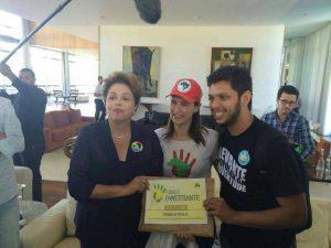 A presidenta Dilma Rousseff também é a favor da reforma do sistema político (Foto: Plebiscito Popular)