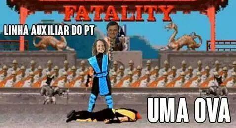 Meme da fanpage Luciana Genro Bolada, que também satiriza o candidato Aécio Neves.