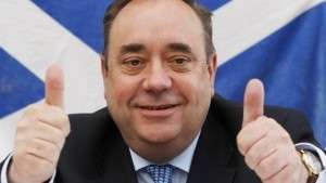 Primeiro-ministro escocês, Alex Salmond, tem a grande chance de ser o estadista a separar o país do Reino Unido (foto: Reprodução)