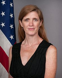 """Samantha Power é atualmente a embaixadora dos EUA na ONU. Ela foi uma das criadores do polêmico conceito """"Responsabilidade de Proteger"""", através das chamadas intervenções humanitárias (Departamento de Estado - EUA)"""