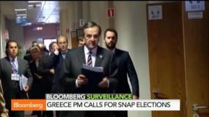 Prevendo a certeira derrota para o Syriza, o primeiro-ministro Antonis Samaras tentou forçar a reeleição de eu partido, a Nova Democracia, no final de 2014. Fracassou (Reprodução)