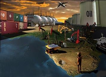 A África continua a ser alvo das antigas potências colonizadoras de Europa; somando-se à riqueza em recursos naturais, estão agora o potencial mercado consumidor (People's Voice)