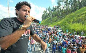 Coordenador do Sindicato dos Petroleiros da Bahia, Deyvid teve apoio da Federação Única dos Petroleiros (Foto: SindpetroMG/FUP/Reprodução)