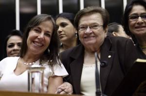 Mara Gabrilli e Luiza Erundina após eleição para a Mesa Diretora (Foto: Reprodução/Facebook)