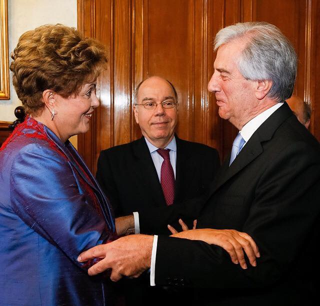Dilma teve encontro com Vázquez antes da posse (Foto: Instagram/Dilma Rousseff)