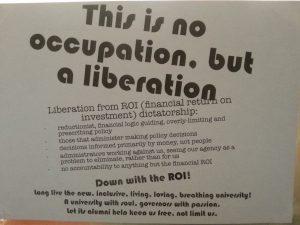 """Panfleto contra a """"financeirização"""" da universidade"""