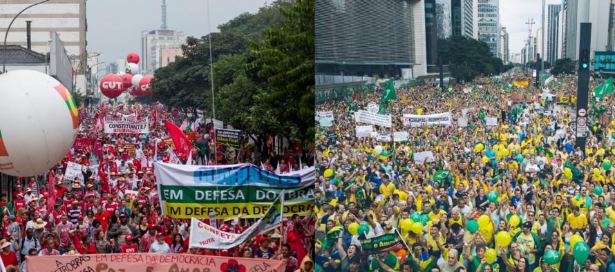 82% dos manifestantes de domingo votaram em Aécio, diz Datafolha