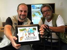 Beto Noaves (direita) precisou se retirar do protesto (Foto: Sindicato dos Jornalistas Profissionais de Minas Gerais)
