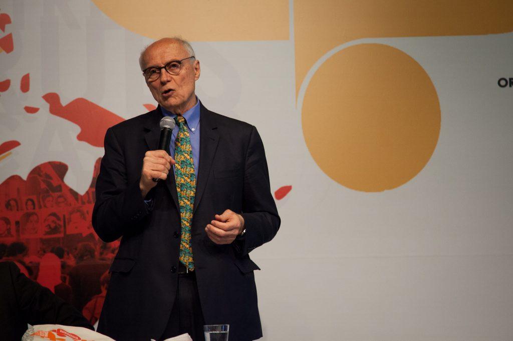 O secretário de Direitos Humanos de São Paulo, Eduardo Suplicy. (Foto: Conectas)