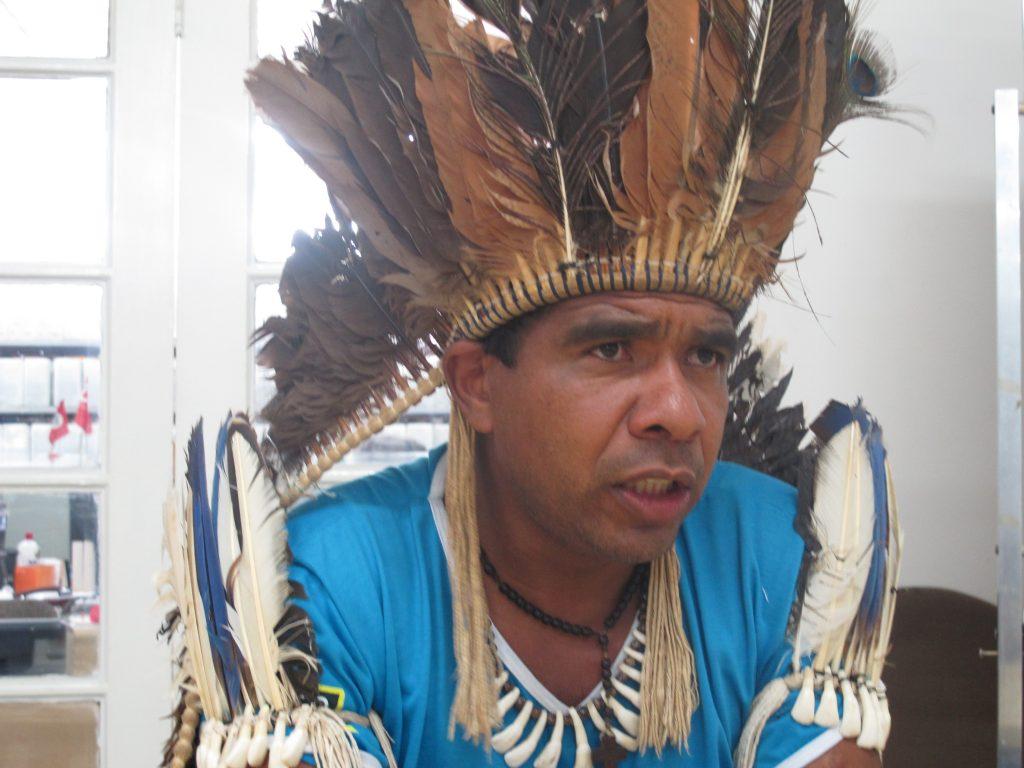 Cacique Babau fala com a Fórum. (Foto: Ivan Longo)