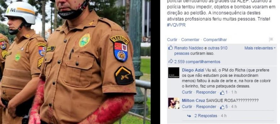 """PM do sangue falso: o """"mártir"""" dos tucanos em Curitiba"""