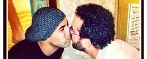 A foto postada por Sheik foi o motivo para as manifestações homofóbicas. (Foto: reprodução/Instagram)