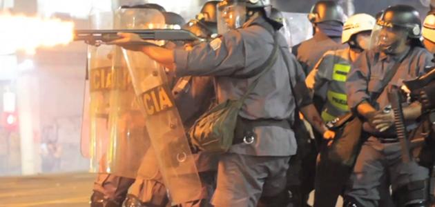 PM ataca imprensa e manifestantes na Consolação / Foto: Jeferson Stader