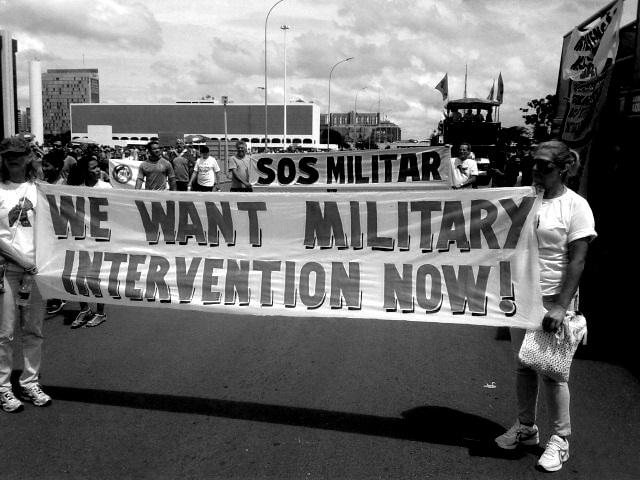 intervenção militar - maíra