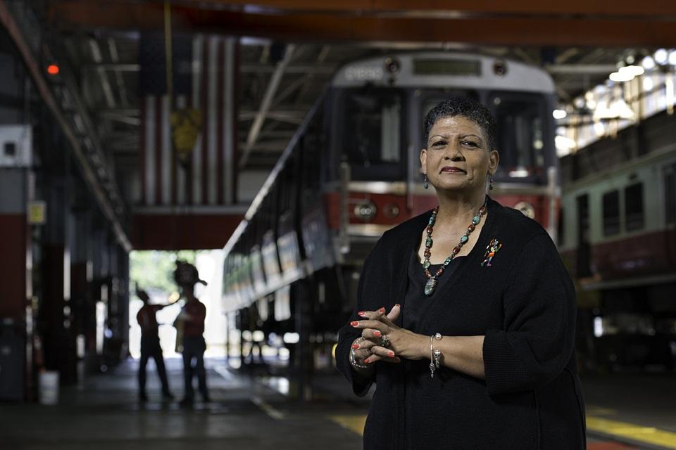 Dr Beverly Scott, head of MBTA in Boston, Massachusetts.