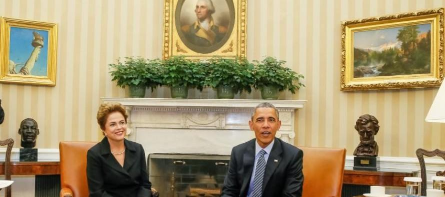 Repórter da GloboNews faz pergunta a Dilma e é contestada por Obama