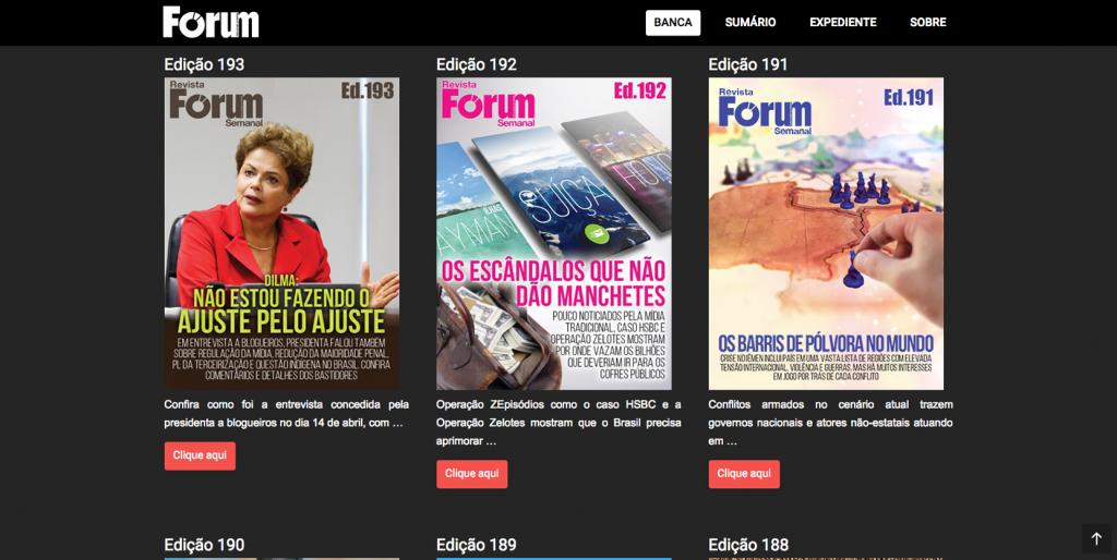 Edições da Fórum em formato digital