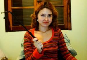 Patty Kirsche em seu vídeo sobre spanking erótico (Imagem: Arquivo Pessoal)