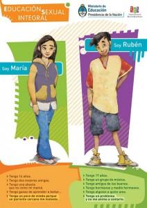 Panfletos de programa argentino abrangem todas as etapas do currículo; neste panfleto, jovens falam de abuso e problemas (Reprodução)