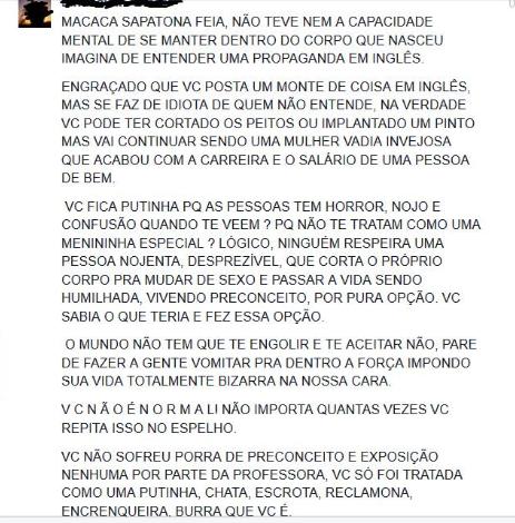 Samuel passou a receber mensagens ofensivas e até mesmo ameaças. (Reprodução/Facebook)