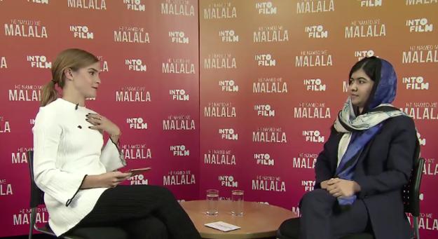 Emma Watson entrevista Malala Yousafzai