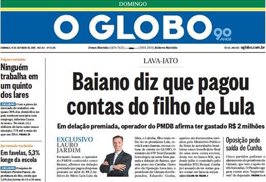 Depois de um m s jornal o globo reconhece que mentiu sobre lula portal f rum - Oglo o ...