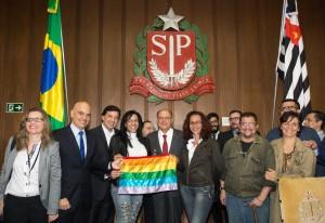 """Governador Alckmin anunciou em novembro do ano passado que  os boletins de ocorrência passariam a ter passaria a ter """"espaços para o preenchimento do nome social e para a inserção da motivação do crime, caso ele seja decorrente da orientação sexual ou identidade de gênero da vítima"""" . Foto: Ciete Silvério / A2img"""