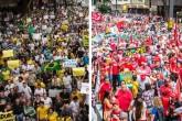 manifestação amarelo