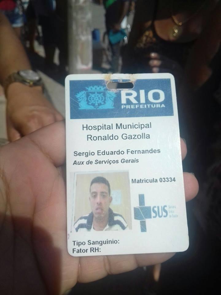 Identificação de uma das vítimas, que trabalhava em um hospital público. (Foto: A Nova Democracia)