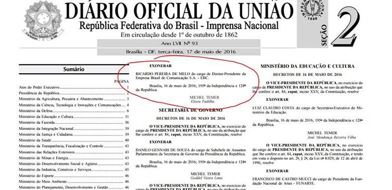 A ilegalidade assinada por Michel Temer está no Diário Oficial da União (Reprodução)