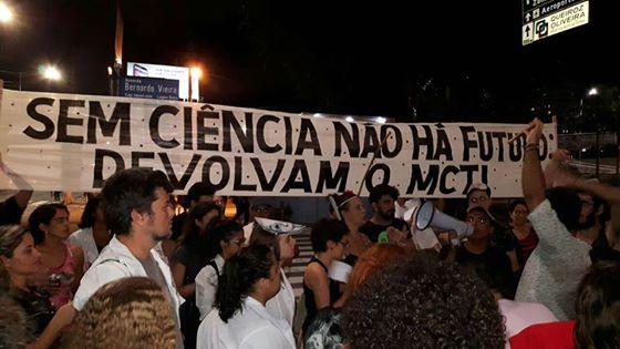 Mobilização de cientistas em Natal (RN). Foto: Eloisa Klein