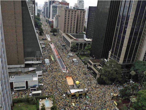 Foto aéra, manifestação golpe
